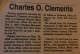 Charles O. Clements - obiturary